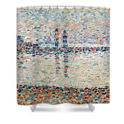 Study For The Channel At Gravelines Evening Shower Curtain