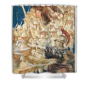 Study For The Coming Of The Americans Shower Curtain