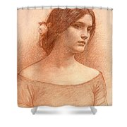 Study For The Lady Clare Shower Curtain