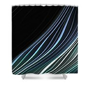 Study In Blues Shower Curtain