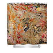 Study In Orange Red And Grey Shower Curtain