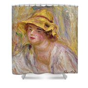 Study Of A Girl, C.1918-19 Shower Curtain