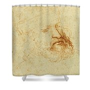 Study Of A Male Head Shower Curtain
