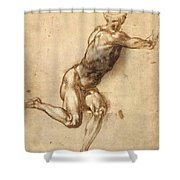Study Of Figure To Battle Of Cascina Shower Curtain