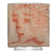 Study Of Sanguine Shower Curtain