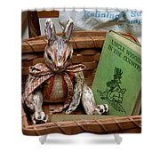Stuffed Rabbit And Uncle Wiggly Book Shower Curtain