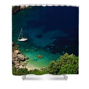 Stunning Beach Kefalonia Shower Curtain