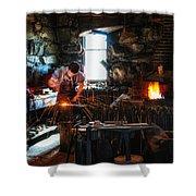 Sturbridge Village Blacksmith Shower Curtain