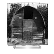 Sturdy Old Barn Shower Curtain