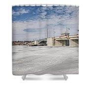 Sturgeon Bay Bridge  Shower Curtain