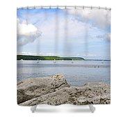 Sturgeon Bay In Summer Shower Curtain