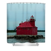 Sturgeon Bay Lighthouse Shower Curtain