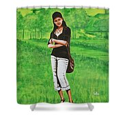 Stylish Miss Shower Curtain