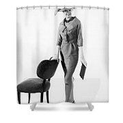 Stylish Woman Shower Curtain