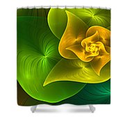 Stylized Philodendron Shower Curtain