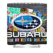 Subaru License Plate Map Sales Celebration Limited Edition 2013 Art Shower Curtain