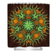 Subatomic Neuron Shower Curtain