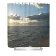 Subdued Sunset Shower Curtain