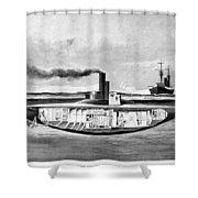 Submarine 'holland,' 1898 Shower Curtain