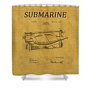 Submarine Patent 3 Shower Curtain