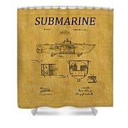 Submarine Patent 5 Shower Curtain