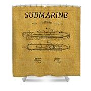 Submarine Patent 7 Shower Curtain