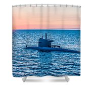 Submarine Sunset Shower Curtain