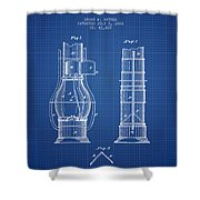 Submarine Telescope Patent From 1864 - Blueprint Shower Curtain