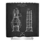 Submarine Telescope Patent From 1864 - Dark Shower Curtain