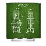 Submarine Telescope Patent From 1864 - Green Shower Curtain