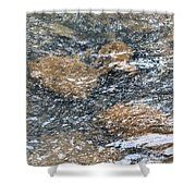 Submerged Stone Abstract Shower Curtain
