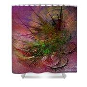 Subtle Echoes - Square Version Shower Curtain