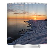 Subtle Pinks And Golds And Violets In A Bright Sunrise Shower Curtain
