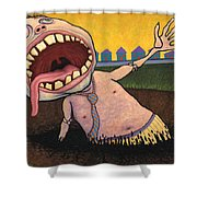 Suburban Tarpit Shower Curtain by James W Johnson