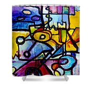 Suburbias Daily Beat Shower Curtain by Regina Valluzzi
