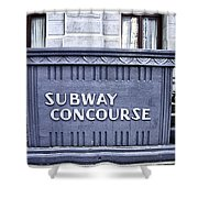 Subway Concourse At City Hall Shower Curtain
