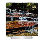 Subway Falls Shower Curtain by Chad Dutson