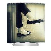 Subway Feet Shower Curtain