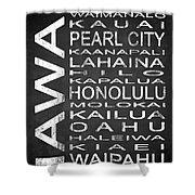 Subway Hawaii State 1 Shower Curtain