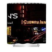 Subway Inn Bar - Vanishing Places Of New York Shower Curtain