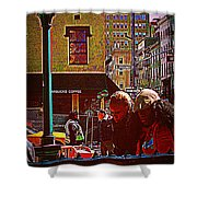 Subway - Late Afternoon Rush On A Cold Day Shower Curtain