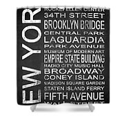 Subway New York 3 Shower Curtain