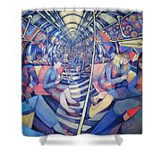 Subway Nyc, 1994 Oil On Canvas Shower Curtain