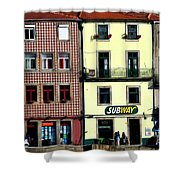 Subway - Porto Shower Curtain by Mary Machare