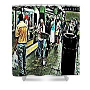 Subway Seranade Shower Curtain