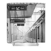 Subway Station 4 Shower Curtain