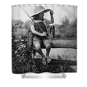 Successful Day Of Fishing  1919 Shower Curtain by Daniel Hagerman