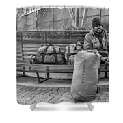 Such A Long Journey Bw Shower Curtain