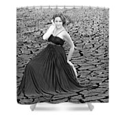 An Image Of Elegance Black And White Shower Curtain