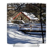 Sudbury - Grist Mill In The Woods Shower Curtain